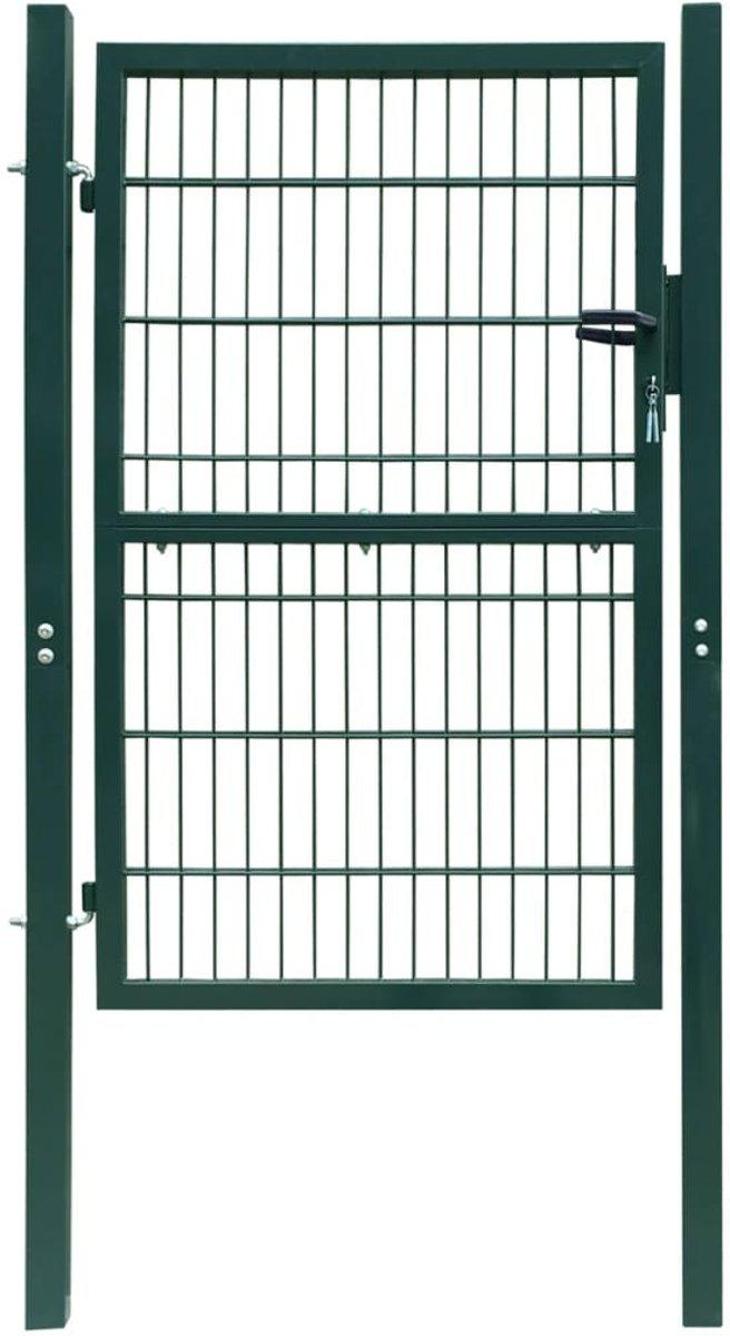 vidaXL 2D Poort (enkel) groen 106 x 210 cm kopen