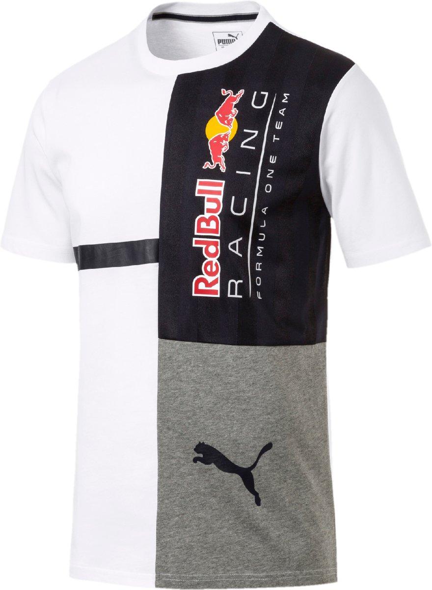 PUMA Red Bull Racing Logo Tee + Shirt Heren - PUMA White
