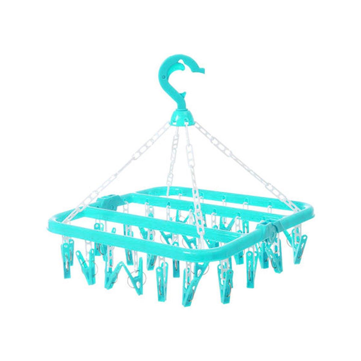 Wasrek inklapbaar- Droogrek hangend - Droogmolen - 32 knijpers - Aqua kopen