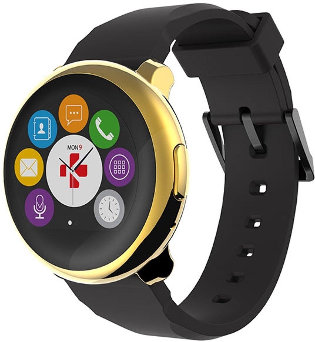 MyKronoz ZeRound - Smartwatch - Zwart/Goud kopen