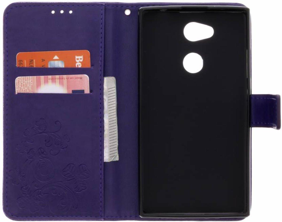 Fleurs De Trèfle Violet Couverture Booktype Pour Sony Xperia I2 foKkCB