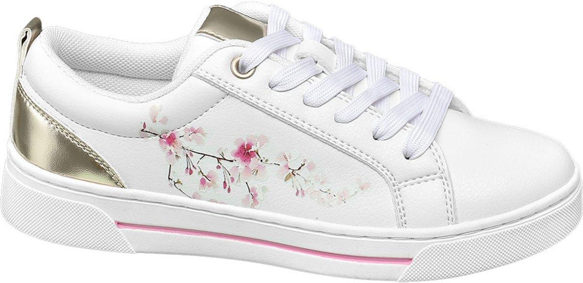 Graceland Kinderen Witte sneaker vetersluiting - Maat 34 kopen