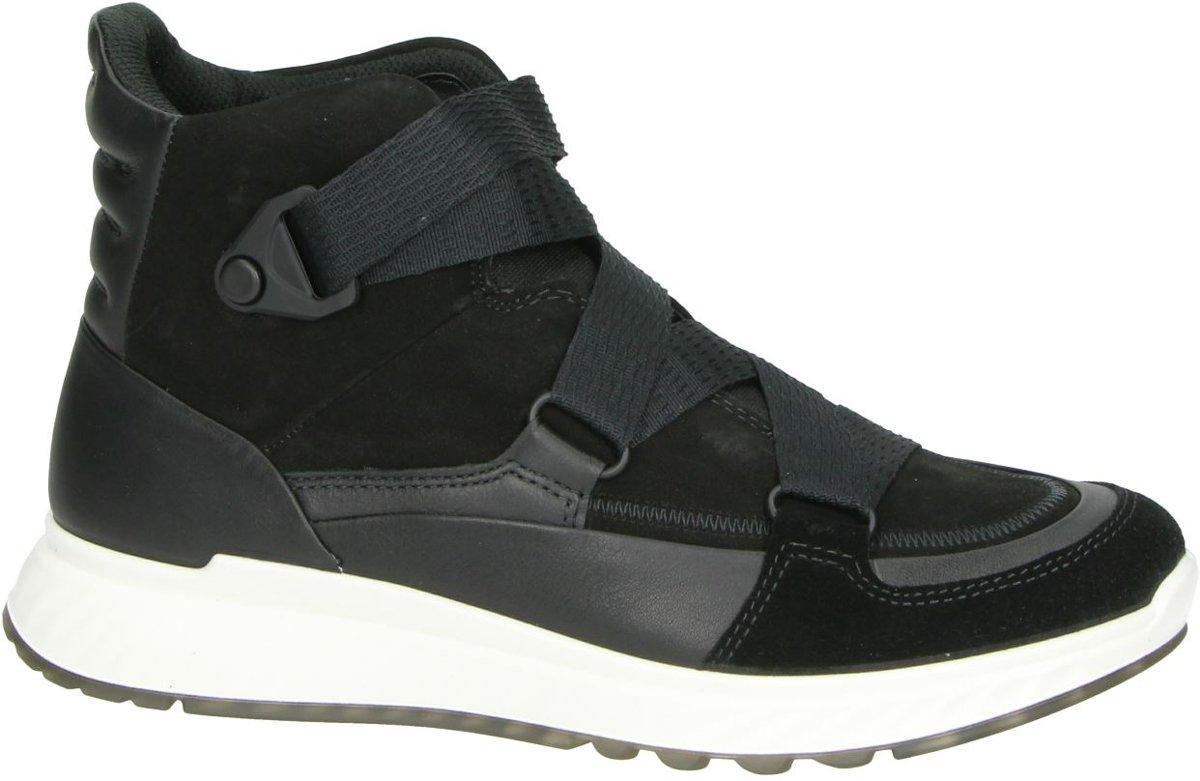 Ecco St1 dames sneaker Zwart Maat 38