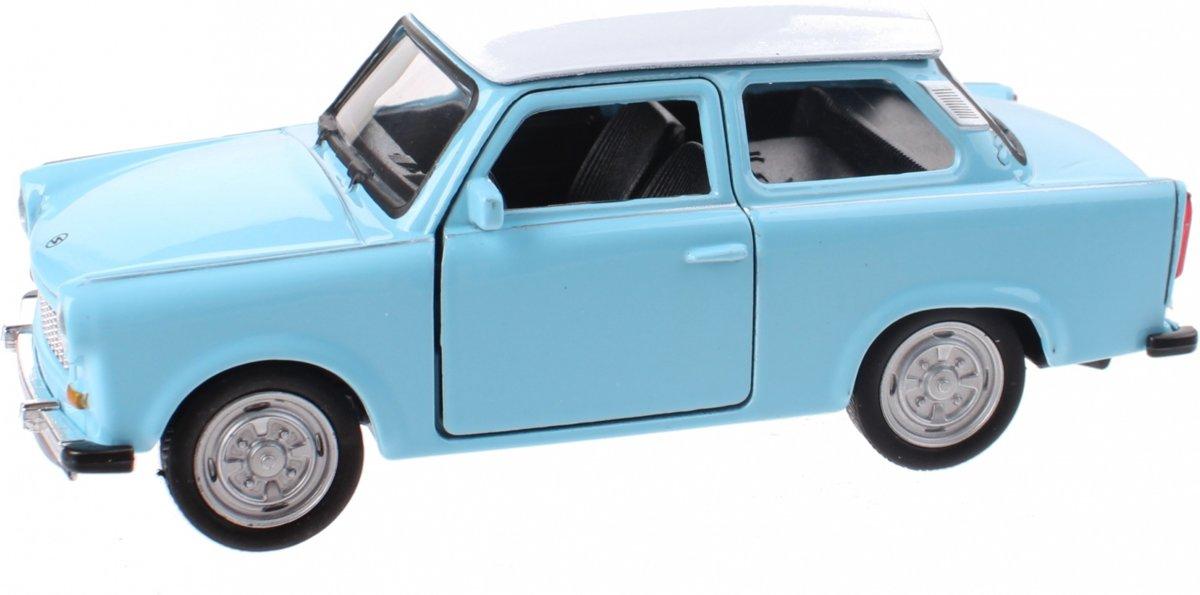 Welly Schaalmodel Nex Trabant Die-cast Blauw/wit 11 Cm