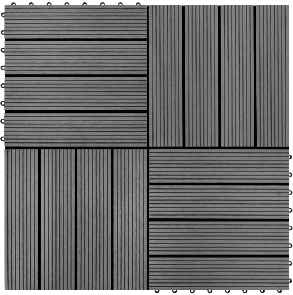 vidaXL HKC tegels grijs 30x30 cm 1m² 11 st kopen