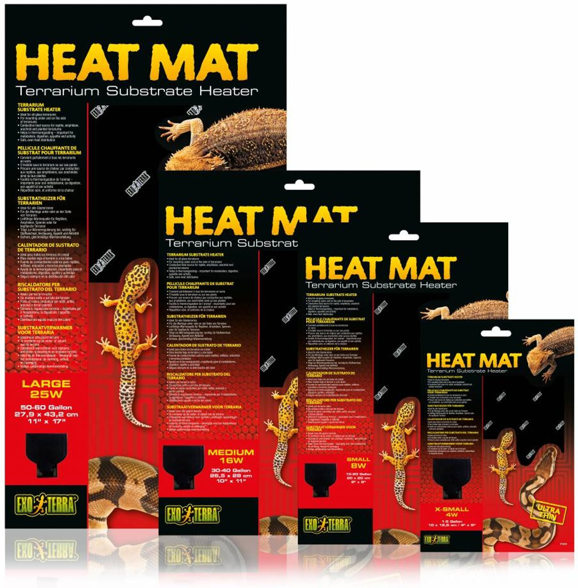 Exo Terra Heat Mat Maat - 10 x 12 cm