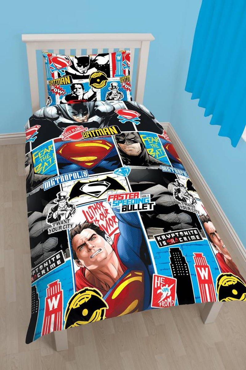 Batman v Superman Clash - Dekbedovertrek - Eenpersoons - 135 x 200 cm - Multi kopen