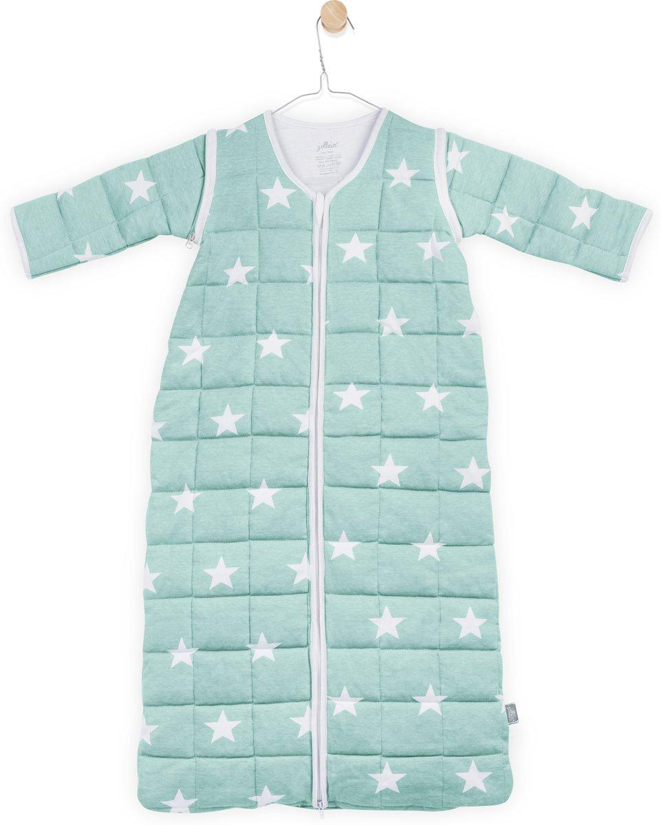 Jollein Little Star Padded Babyslaapzak met afritsbare mouw - 90 cm - Jade