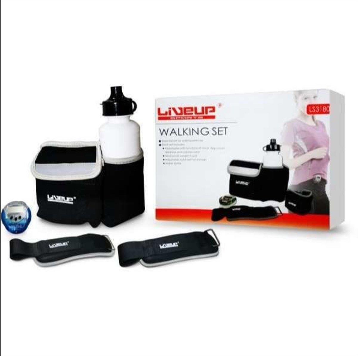 Lineup Sports wandelset - Drinkfles - Pedometer - Pols/Enkel gewicht - verstelbare riem voor opslag kopen