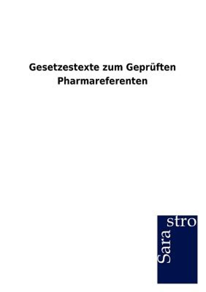 bol.com | Gesetzestexte Zum Gepr Ften Pharmareferenten, Sarastro ...