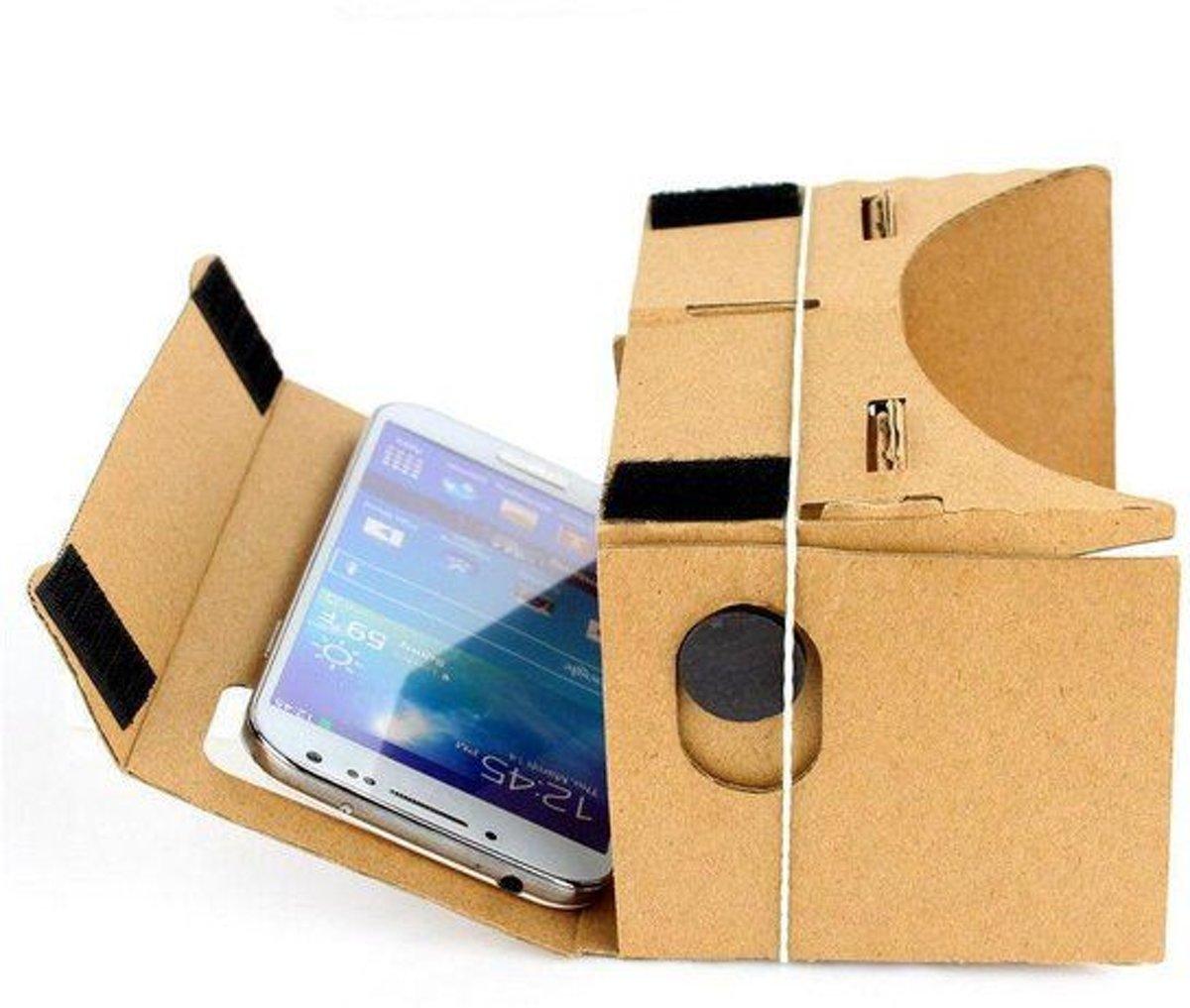 29ba3ecf4c974f (Google) cardboard inclusief hoofdband   Virtual reality 3D bril – geschikt  voor smartphones tot 5