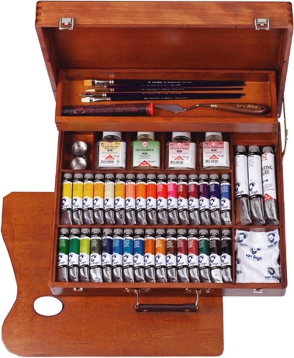 Van Gogh olieverf kist 34 tubes met accessoires - Superior kopen