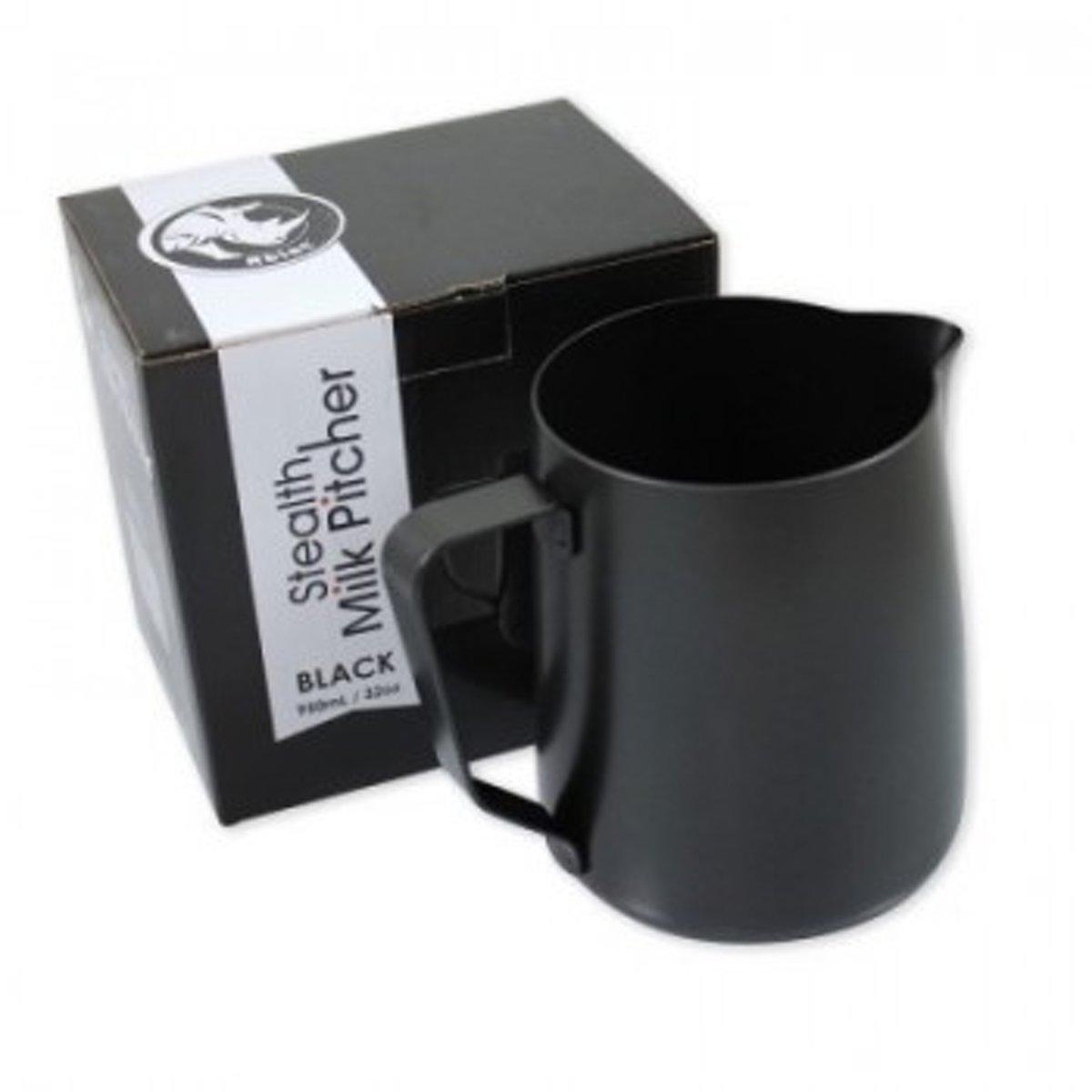 Rhinowares Stealth Milk pitcher Melkkan melkopschuimkan 600ml - Zwart kopen