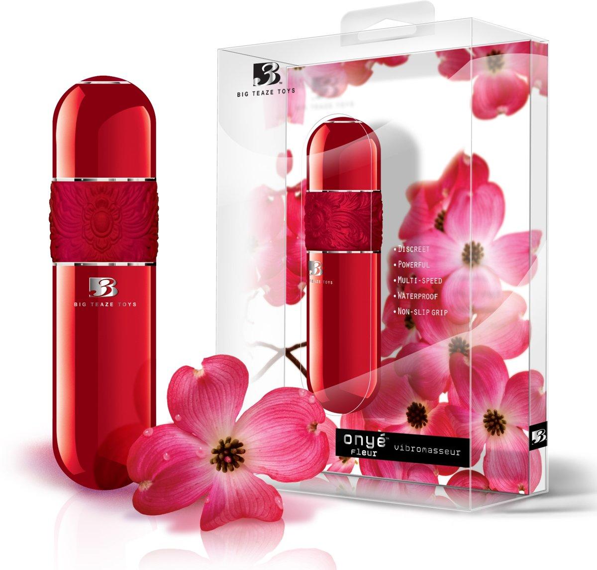 Foto van Big Teaze Toys B3 Onye Fleur Rood Parel - Vibrator