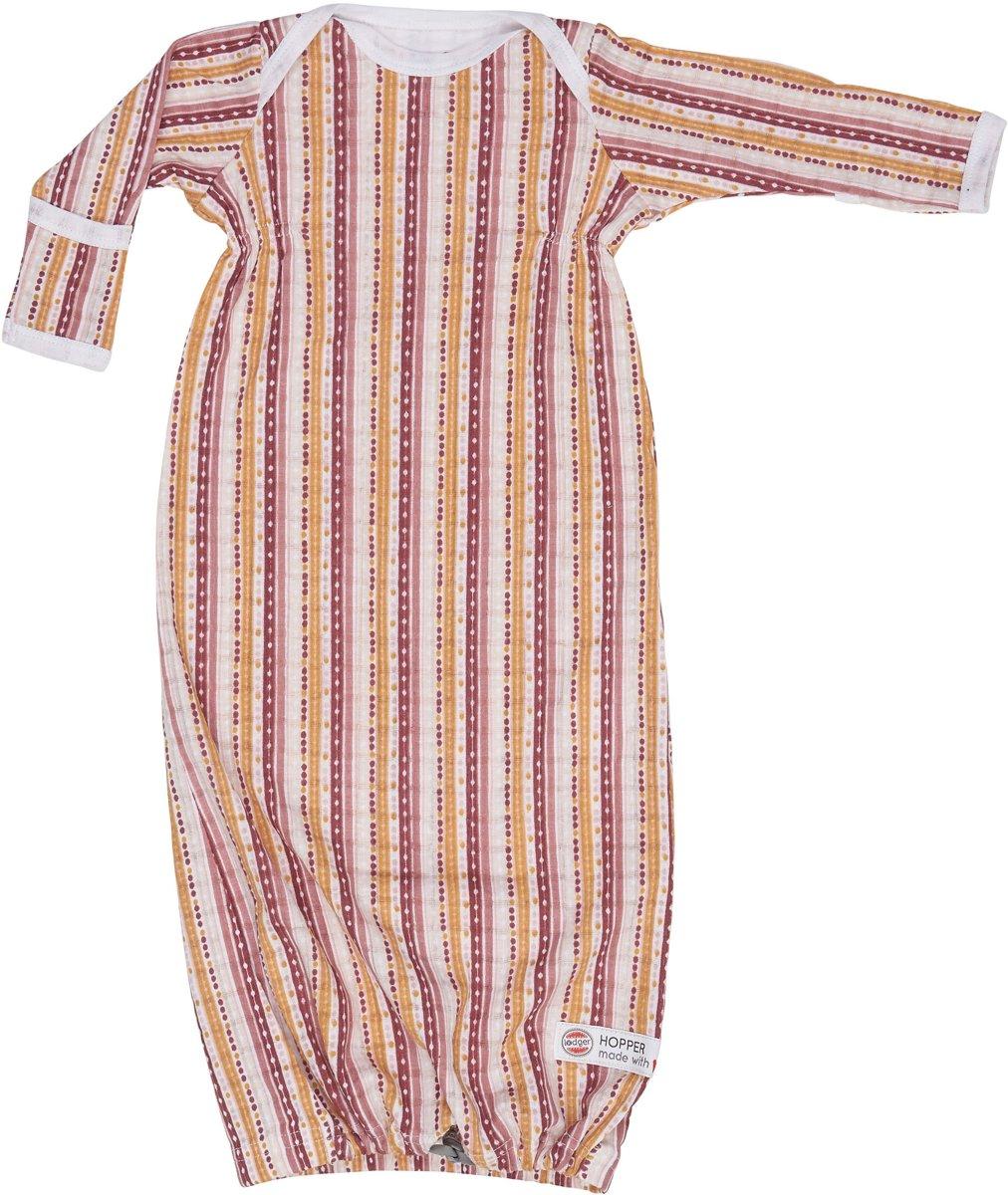 Lodger Baby slaapzak - Hopper Newborn Stripe Xandu - Donkerroze - 0-4 mnd