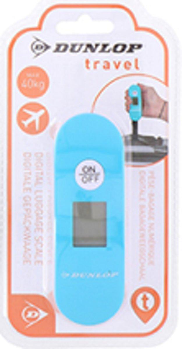 Dunlop Premium Travel Digitale Bagageweegschaal   Digital Luggage scale   Koffer/ baggage weger   Tot wel 40 KG wegen   Kleur : Lichtblauw kopen