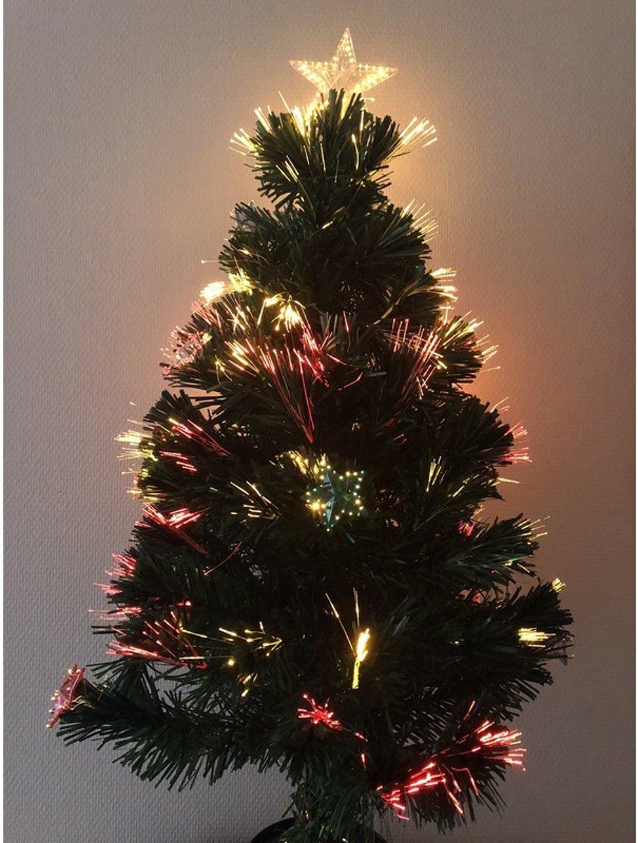bolcom kleine kunst kerstboom met verlichting en versiering 90 cm kunstkerstboom