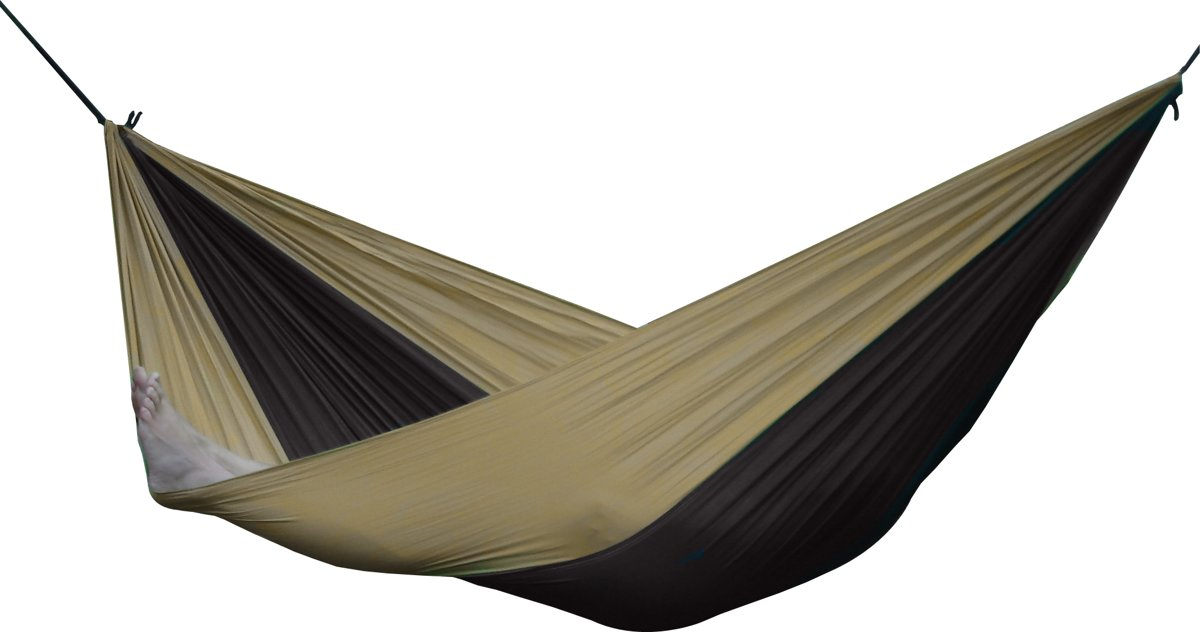 Parachute Hangmat Dubbel - Zwart/Zand