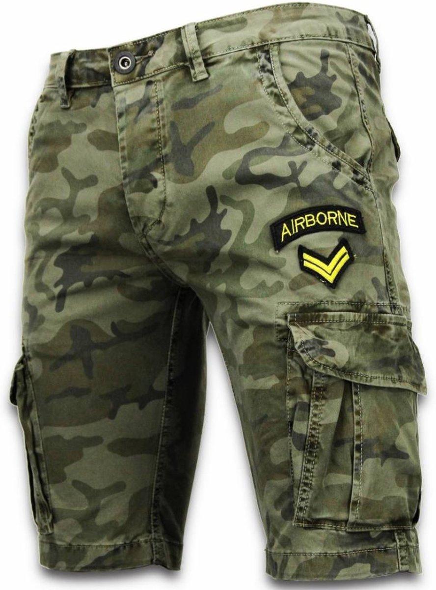 We Heren Korte Broek.Bol Com Enos Korte Broeken Heren Slim Fit Army Stitched Shorts