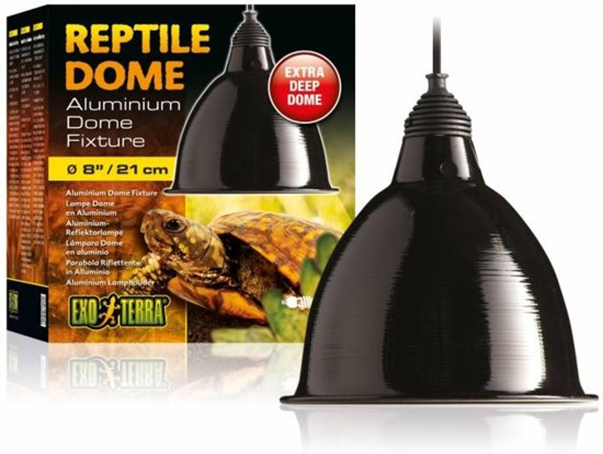 Exo Terra Reptile Dome Lamphouder - Zwart - M - Ø 21CM