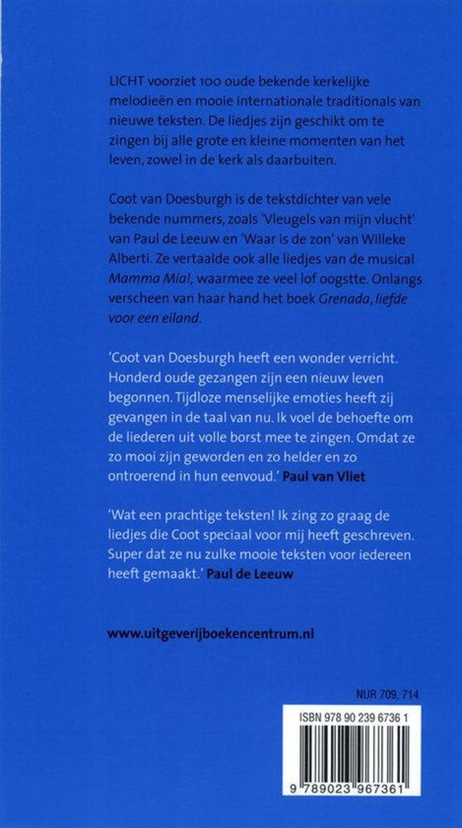 Ongebruikt bol.com   Licht, Coot van Doesburgh   9789023967361   Boeken CR-46
