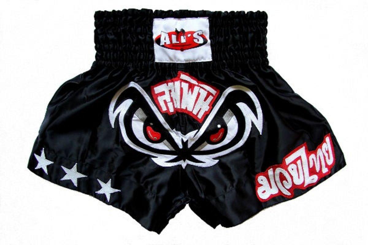 Ali's Fightgear Kickboksbroek Kort Ogen Zwart Maat M kopen