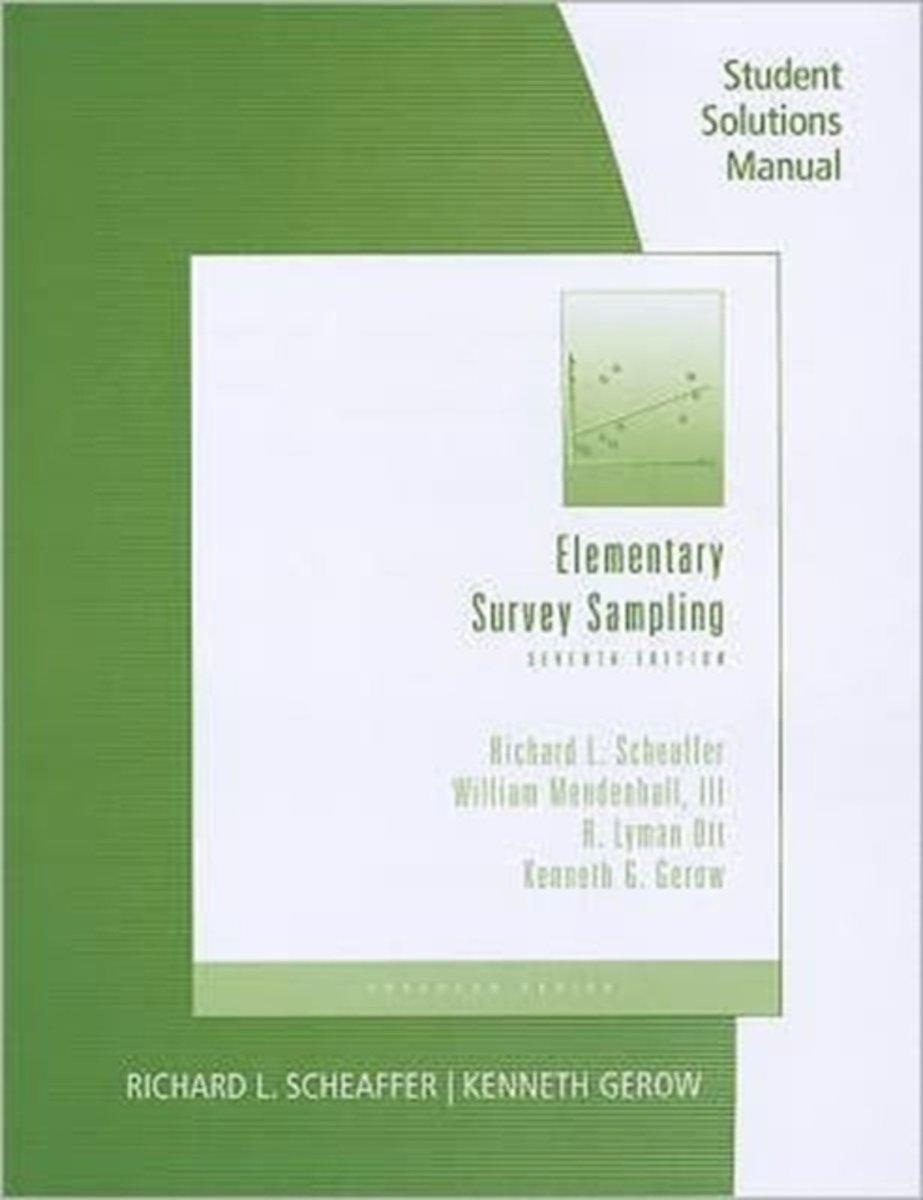 bol.com | Student Solutions Manual for Scheaffer/Mendenhall/Ott/Gerow's Elementary  Survey.