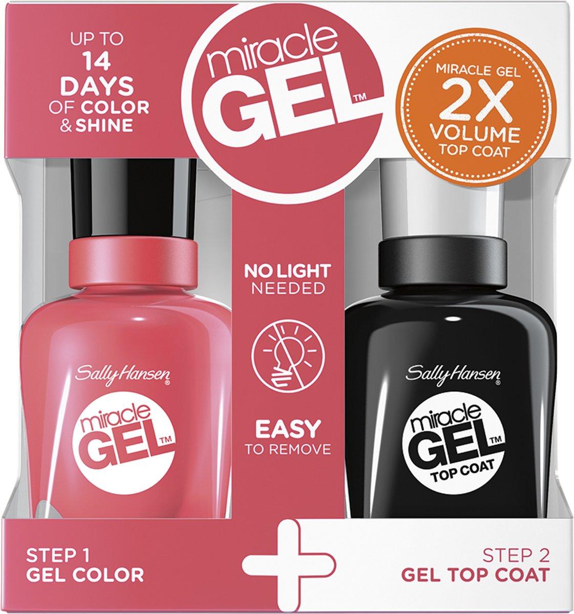 Sally Hansen Miracle Gel + Top Coat DUOPACK -  401 Pretty Piggy - Gel Nagellak voor €4,88