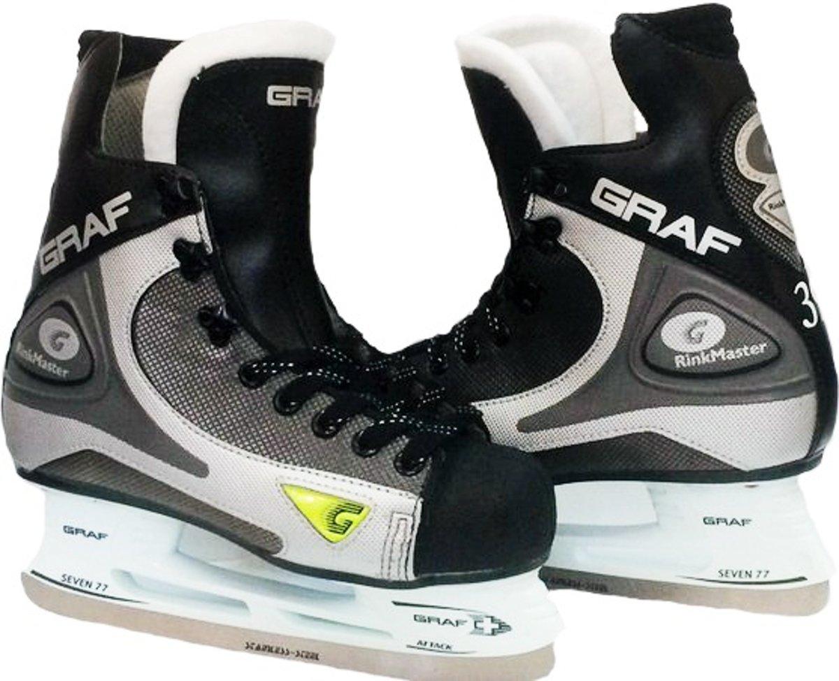 Graf Ijshockeyschaatsen Rinkmaster 101 Jongens Zwart Maat 31