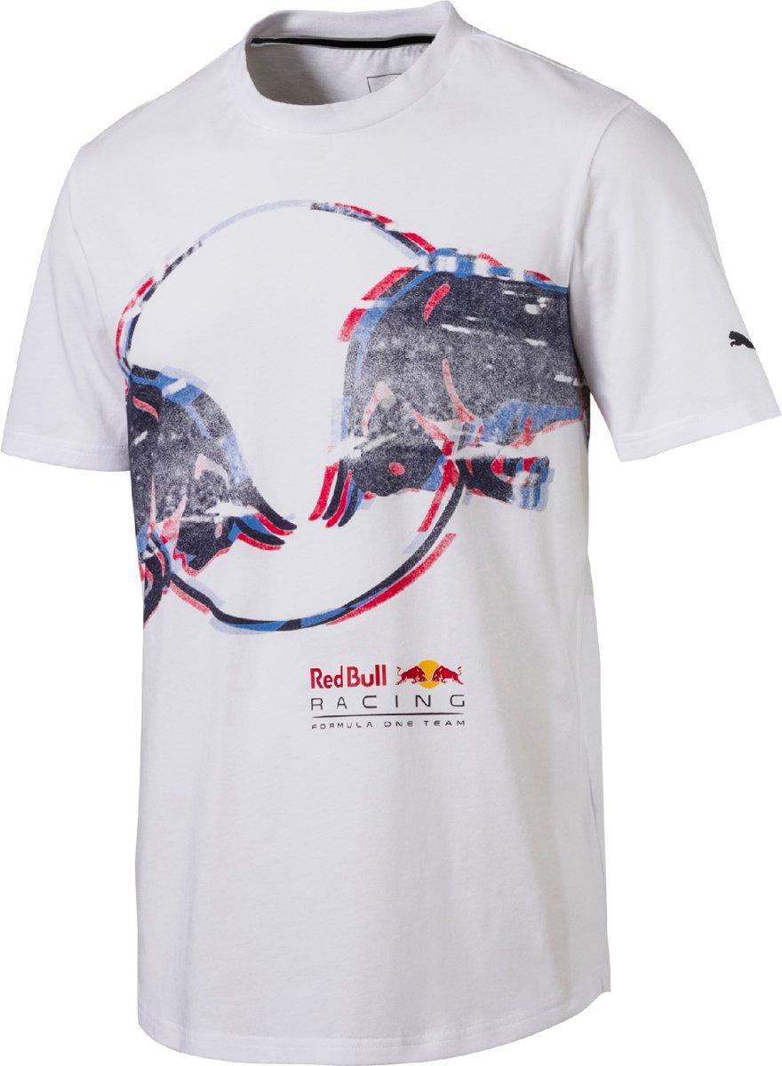 PUMA Red Bull Racing Double Bull Tee Shirt Heren - White