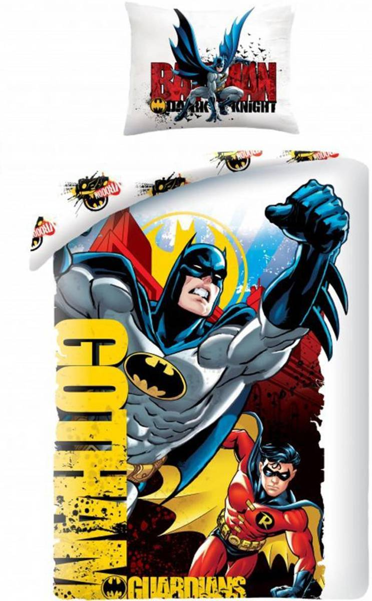 Batman Gotham Guardians Dekbedovertrek - Eenpersoons - 140x200 cm - Multi kopen