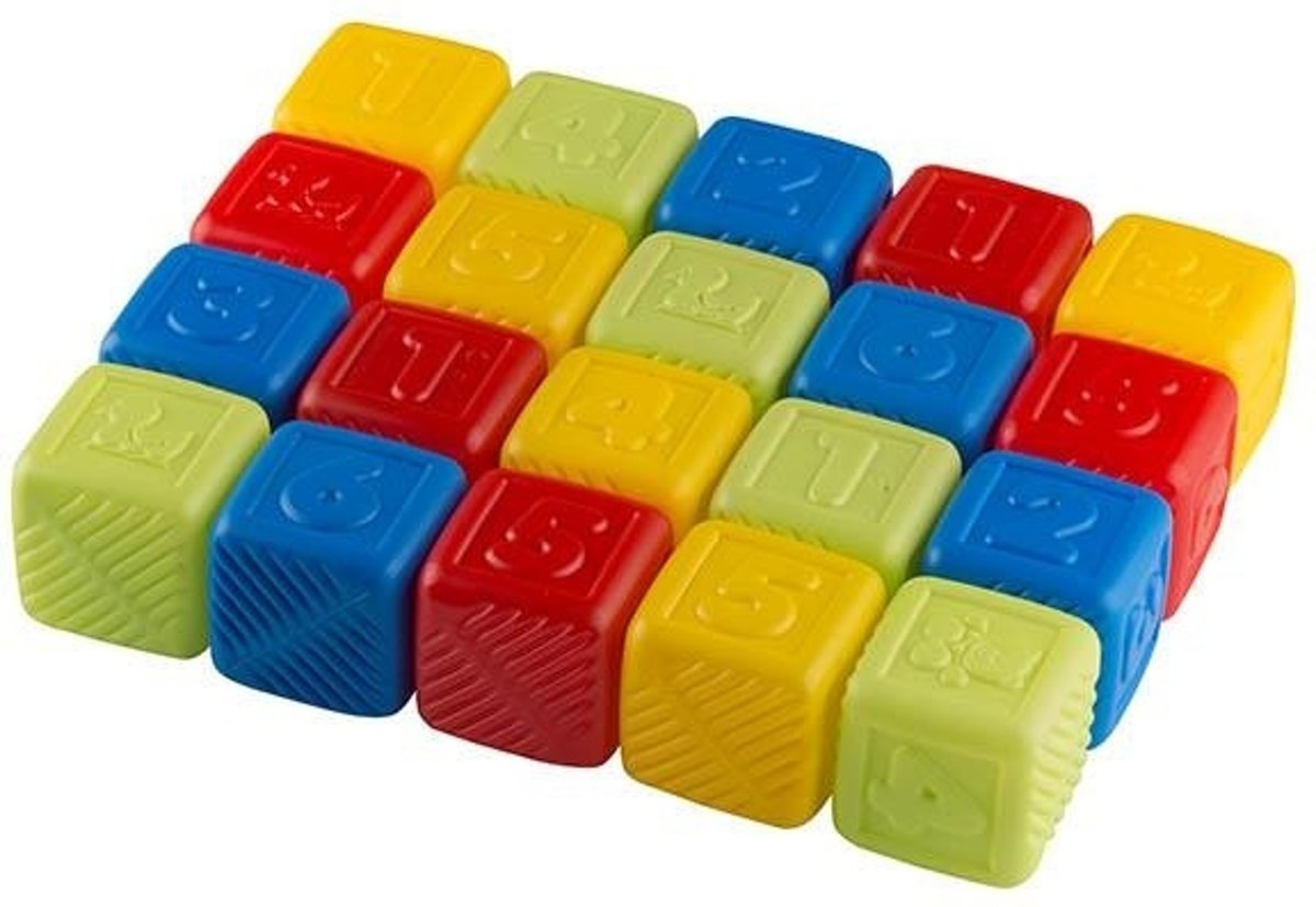 Let's Play Speelblokken 5 Cm 20-delig kopen