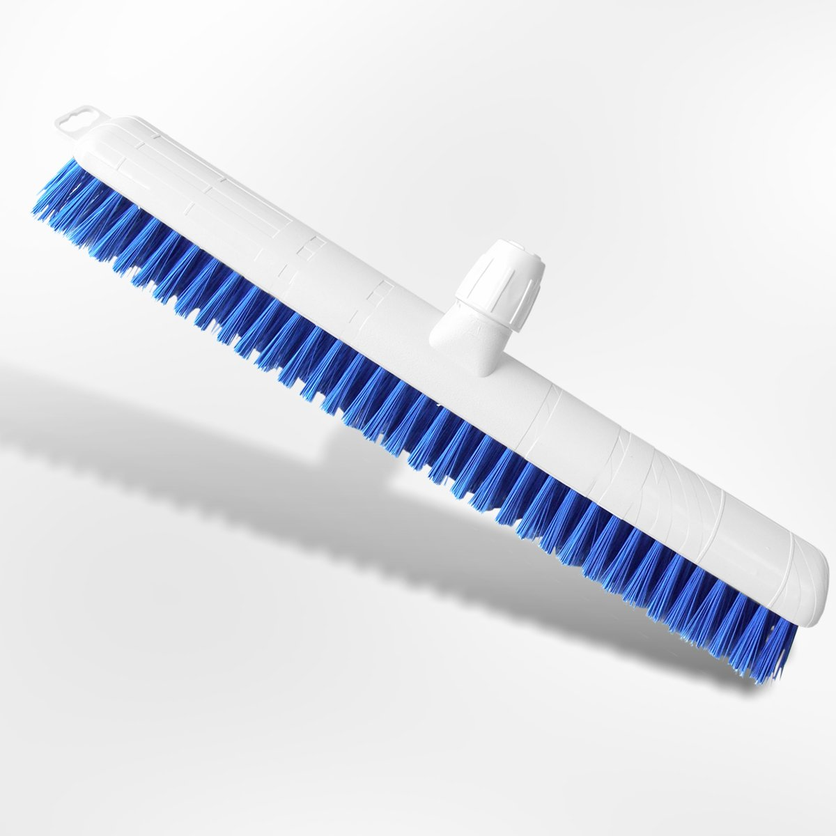Hygiënische schrobborstel 50 cm met blauwe schuurborstel harde haren van 0.6 mm kopen