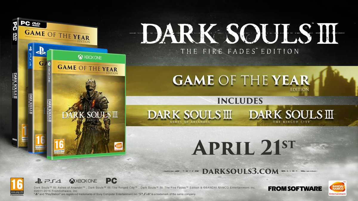 Dark Souls 3 - The Fire Fades / Game of the year Edition Xbox One