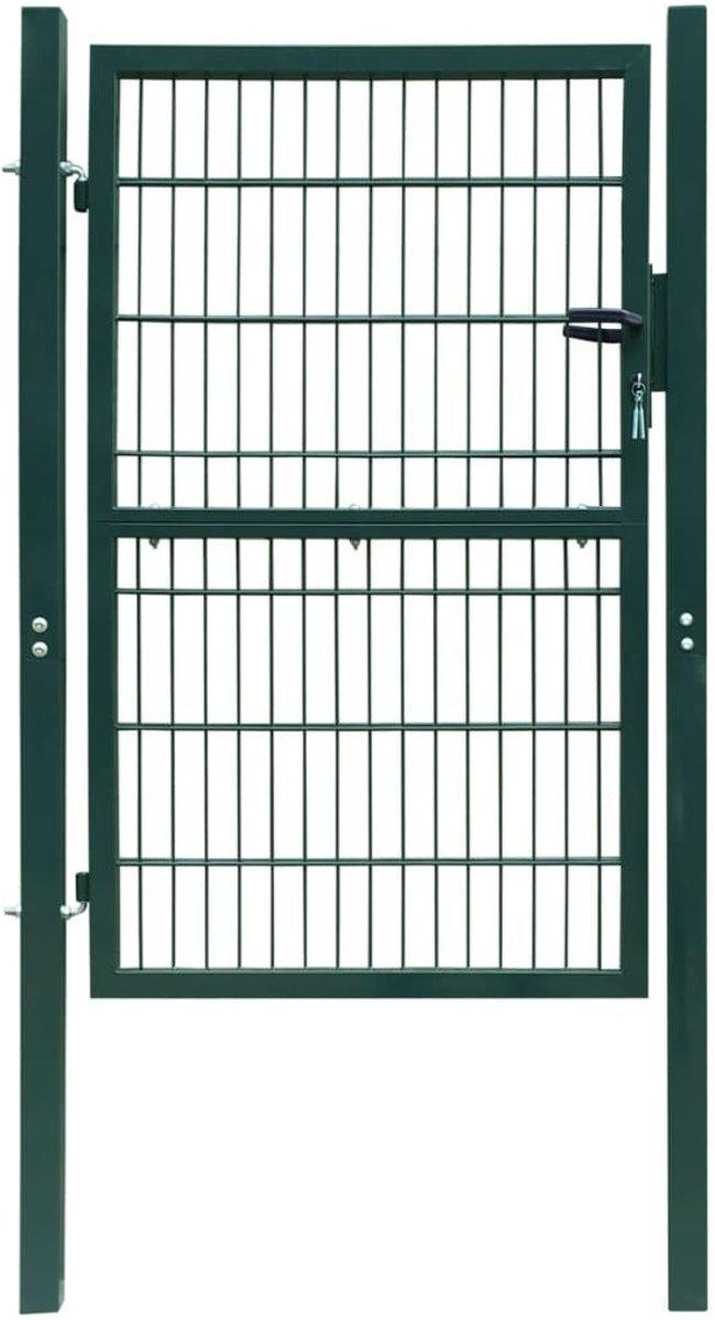 vidaXL 2D Poort (enkel) groen 106 x 170 cm kopen
