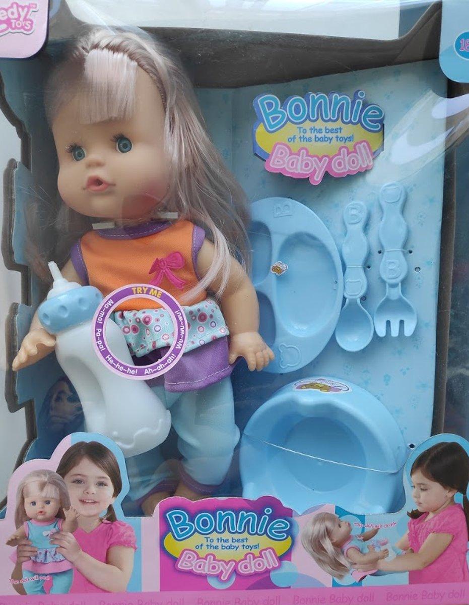 Babyspeelgoed Met Accessoires Voor Kinderen Peuter Kleuter   Babyborn Interactieve Poppen Meisje Met Flesje Plaspotje Flesje Eetbordje Met bestek En Kleren Voor Kleine Poppen   Maakt Geluid