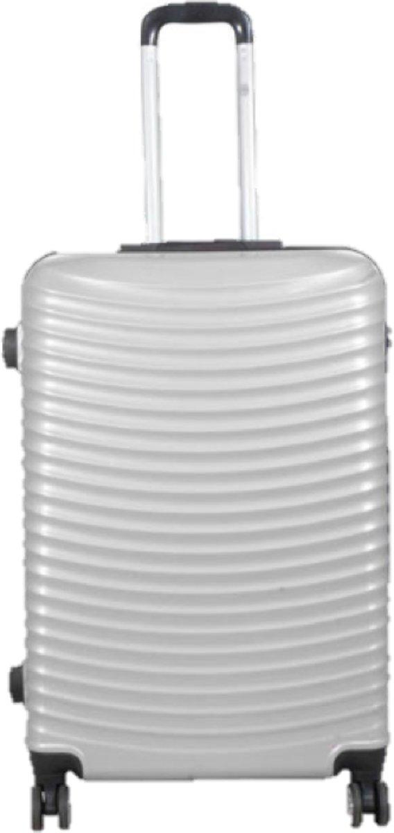 reiskoffer Bunker zilver 100% polycarbonaat | 76cm - 89 liter kopen
