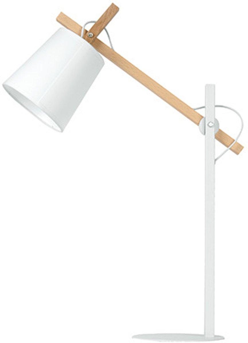   Letimotiv Sheer Tafellamp Metaal Hout Wit