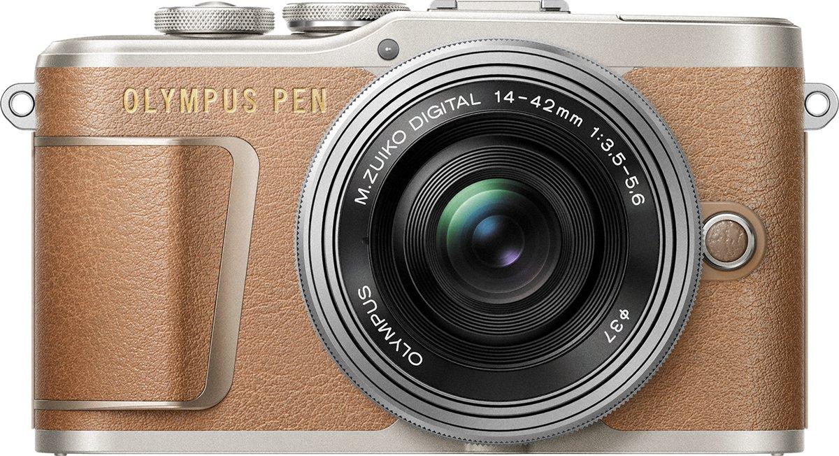 Olympus PEN E-PL9 + EZ-M 14-42 EZ - Bruin/Zilver