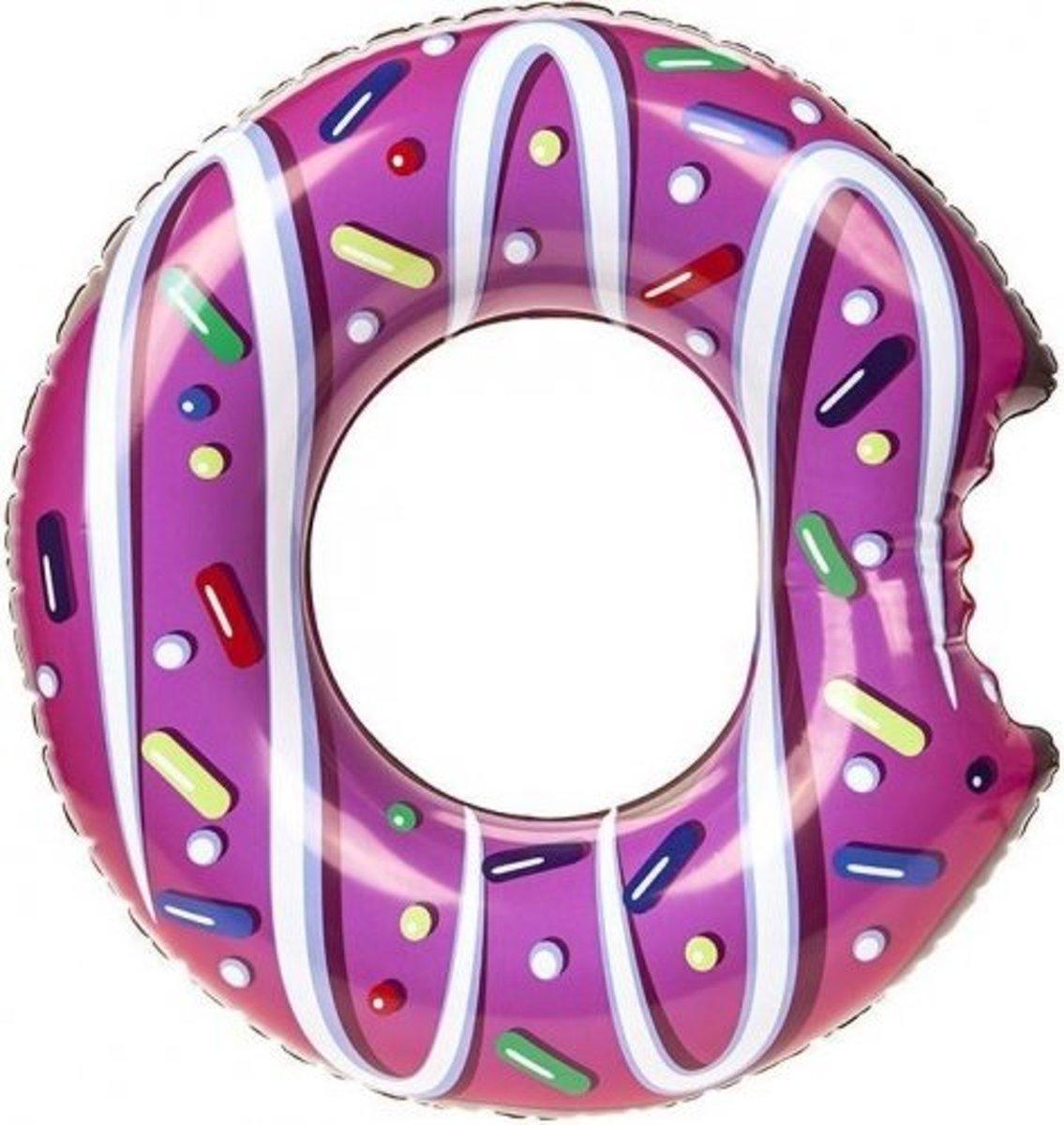 Donut zwemband roze 122 cm