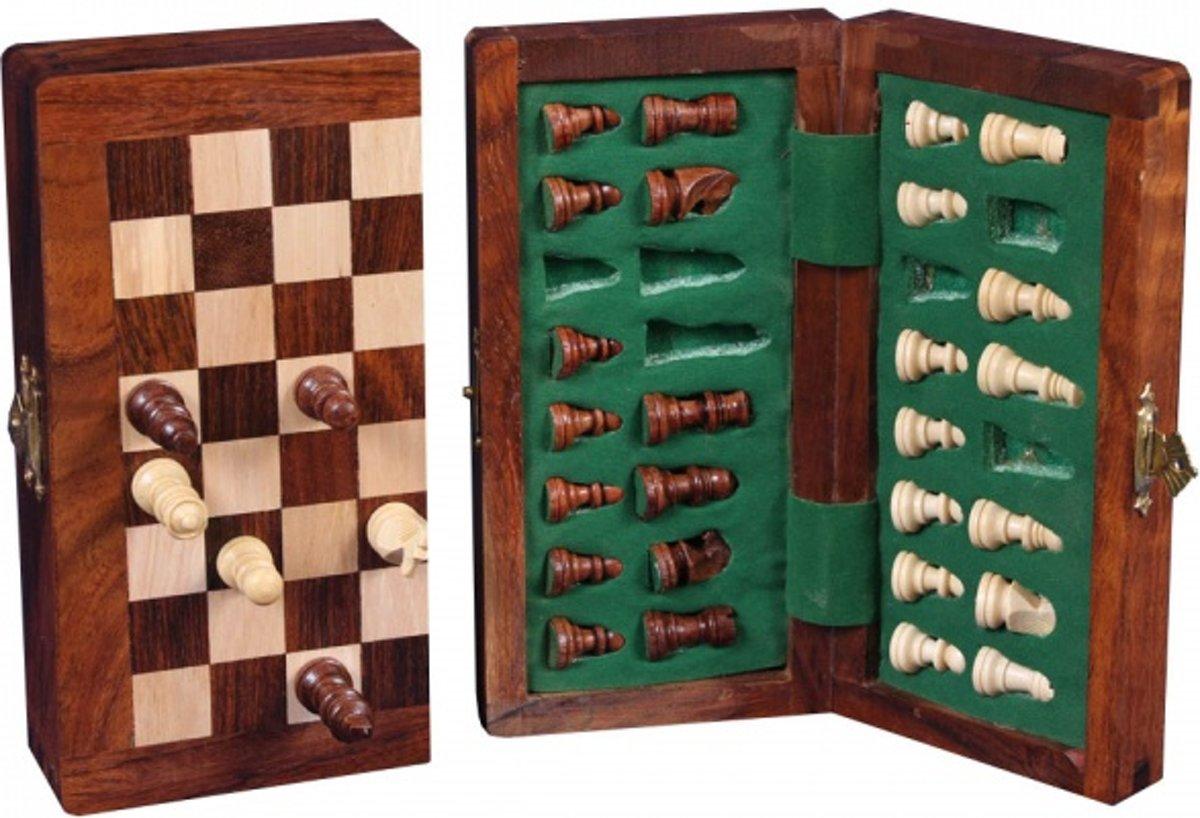Longfield Games Schaakset 9 x 17 cm - Magnetisch/Opklapbaar