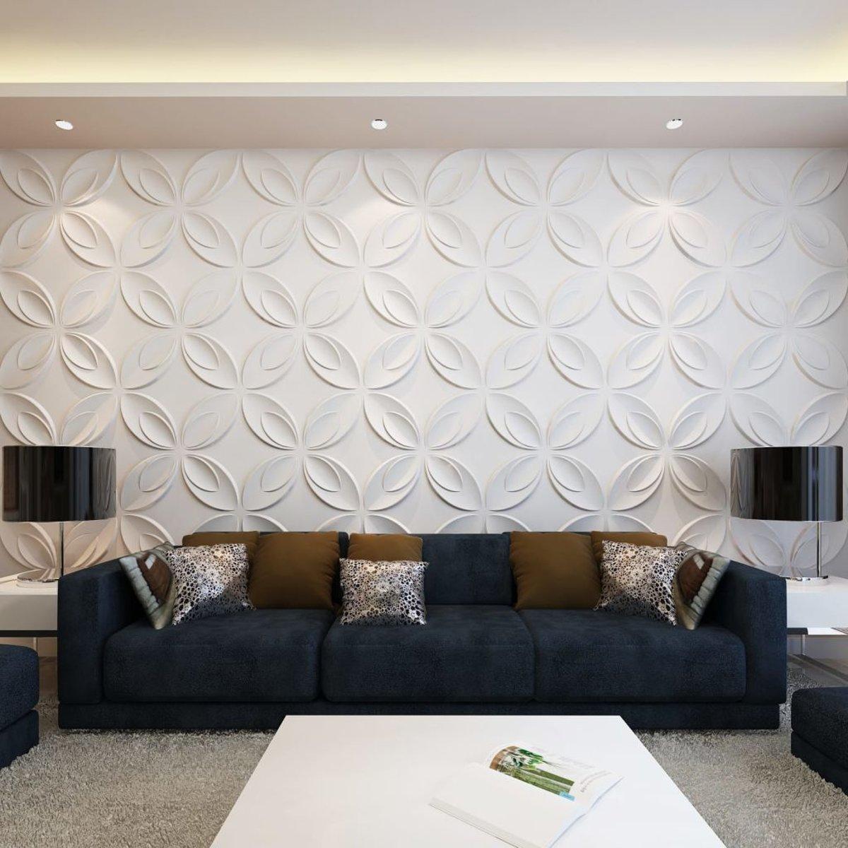 vidaXL 66 x 3D wandpanelen (bloemenmotief) 0.3 m x 0.3 m - 6 m² kopen