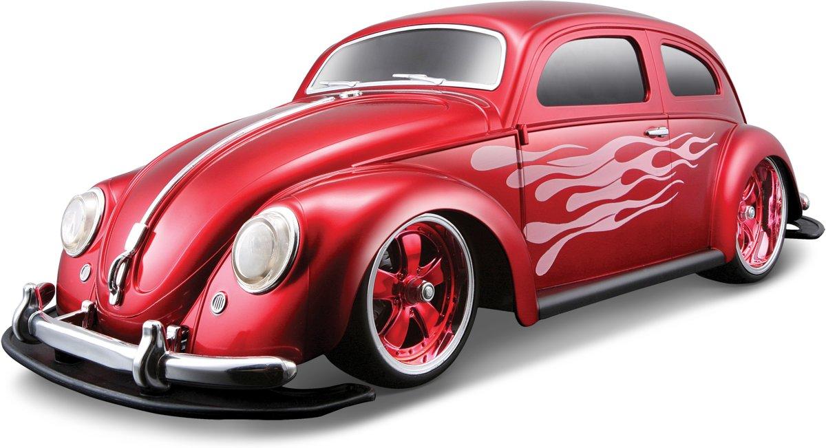 Maisto Radiografische Bestuurbare auto schaal 1:10 1951 VW Beetle (Rood)