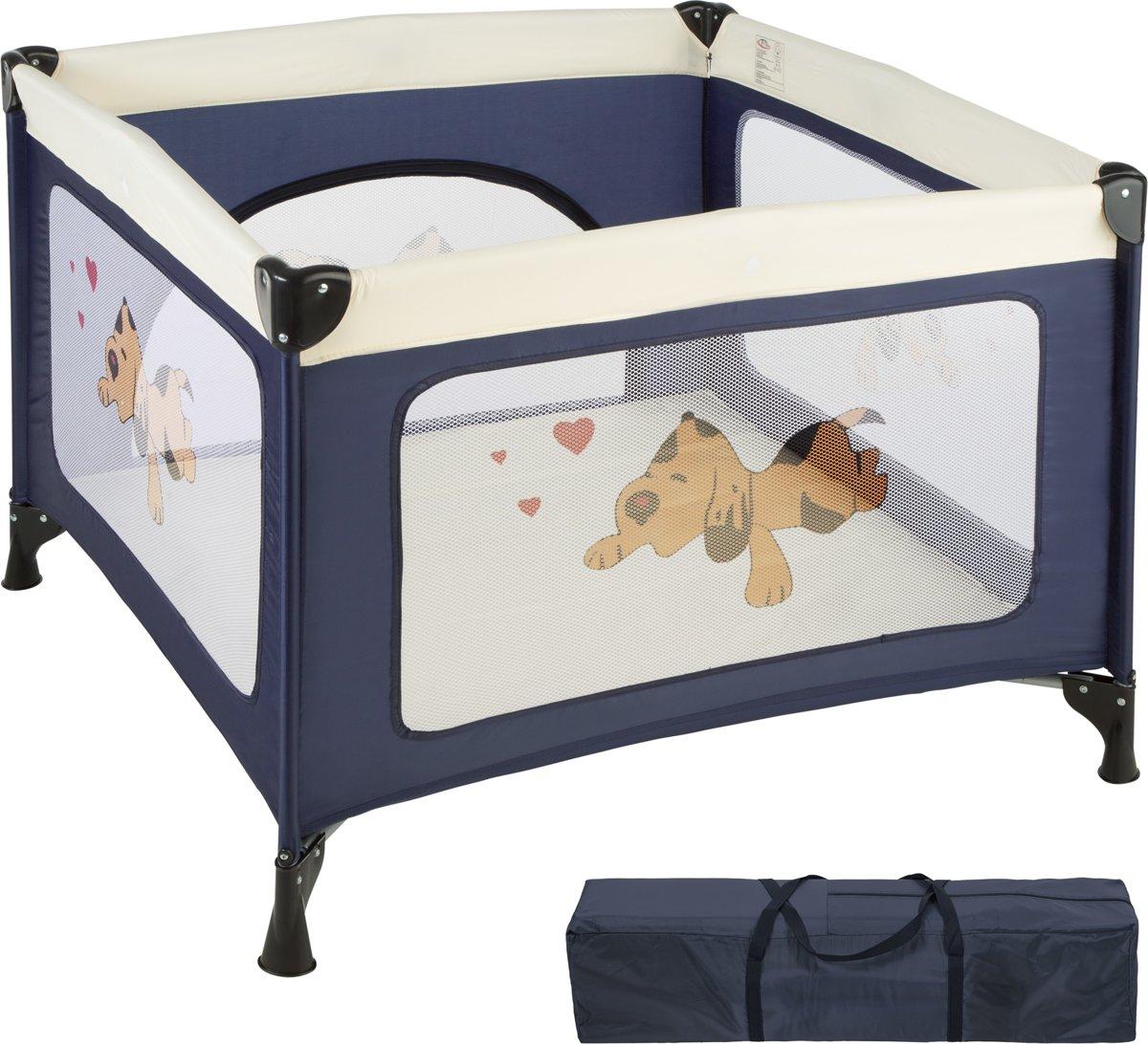 TecTake babybox reisbox opklapbaar Tommy reisbed - blauw - 402205