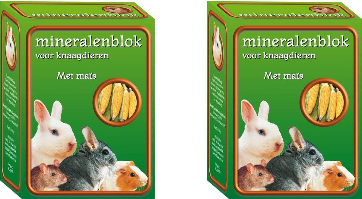 Mineralenblok met maïs - Knaagdierenvoer