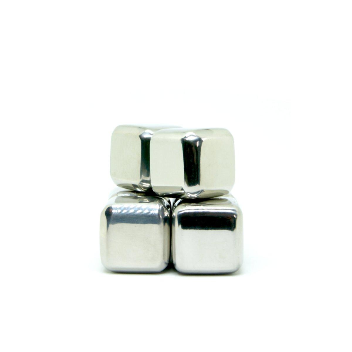 Luxe RVS Whiskey Stenen / ijsblokjes Set van 6 stuks kopen