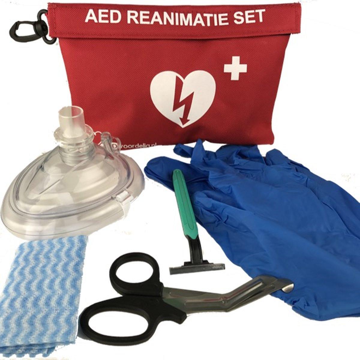 Foto van AED rescuekit