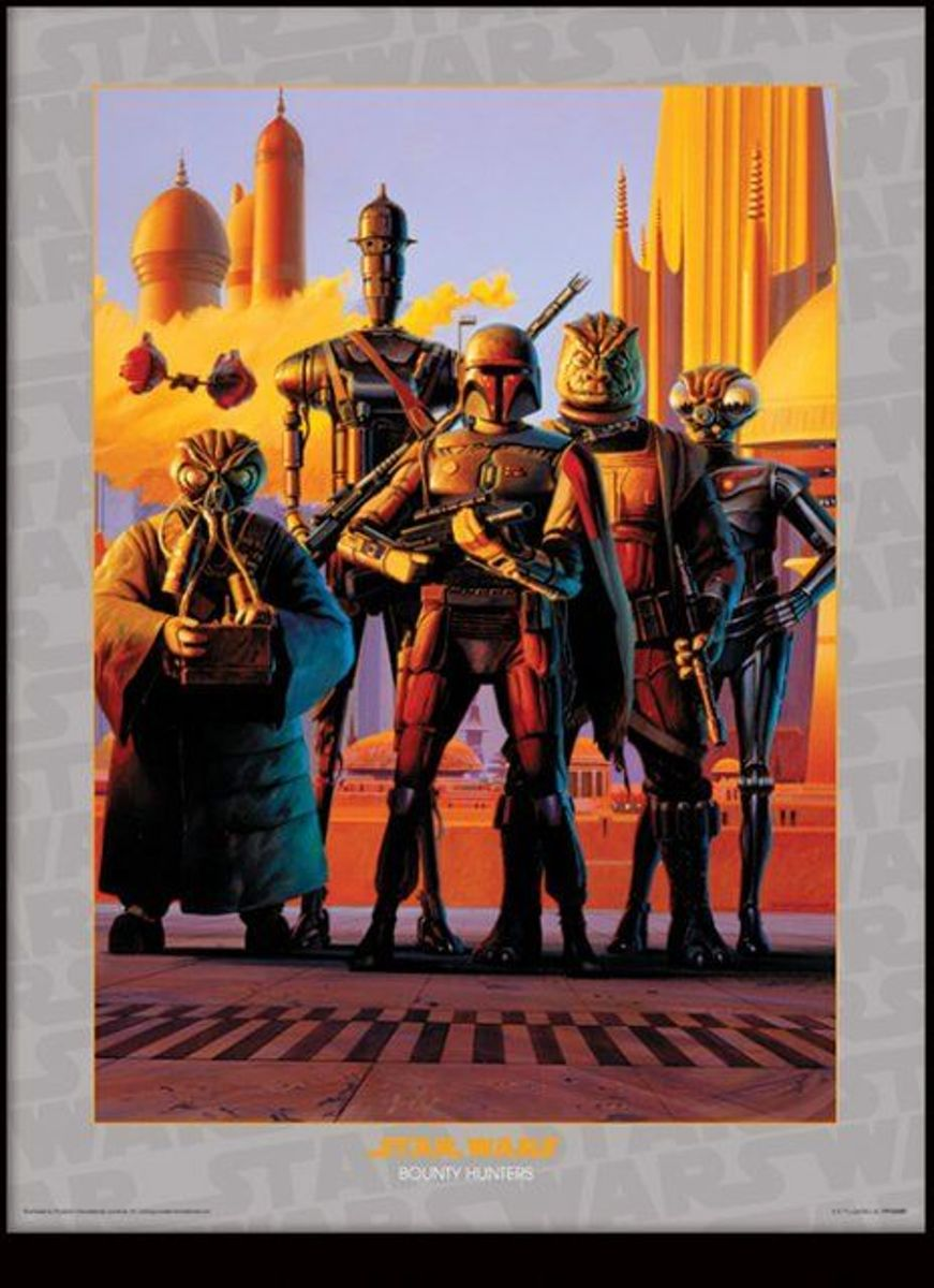 Merchandising STAR WARS - Collector Print HQ 32X42 - Bounty Hunters kopen