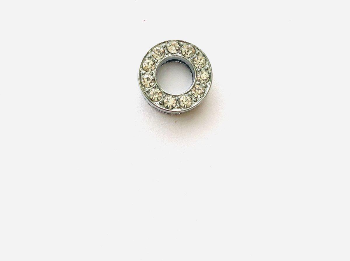 Metalen letter met zirkonia steentjes - Letter O - Personaliseer zelf kopen