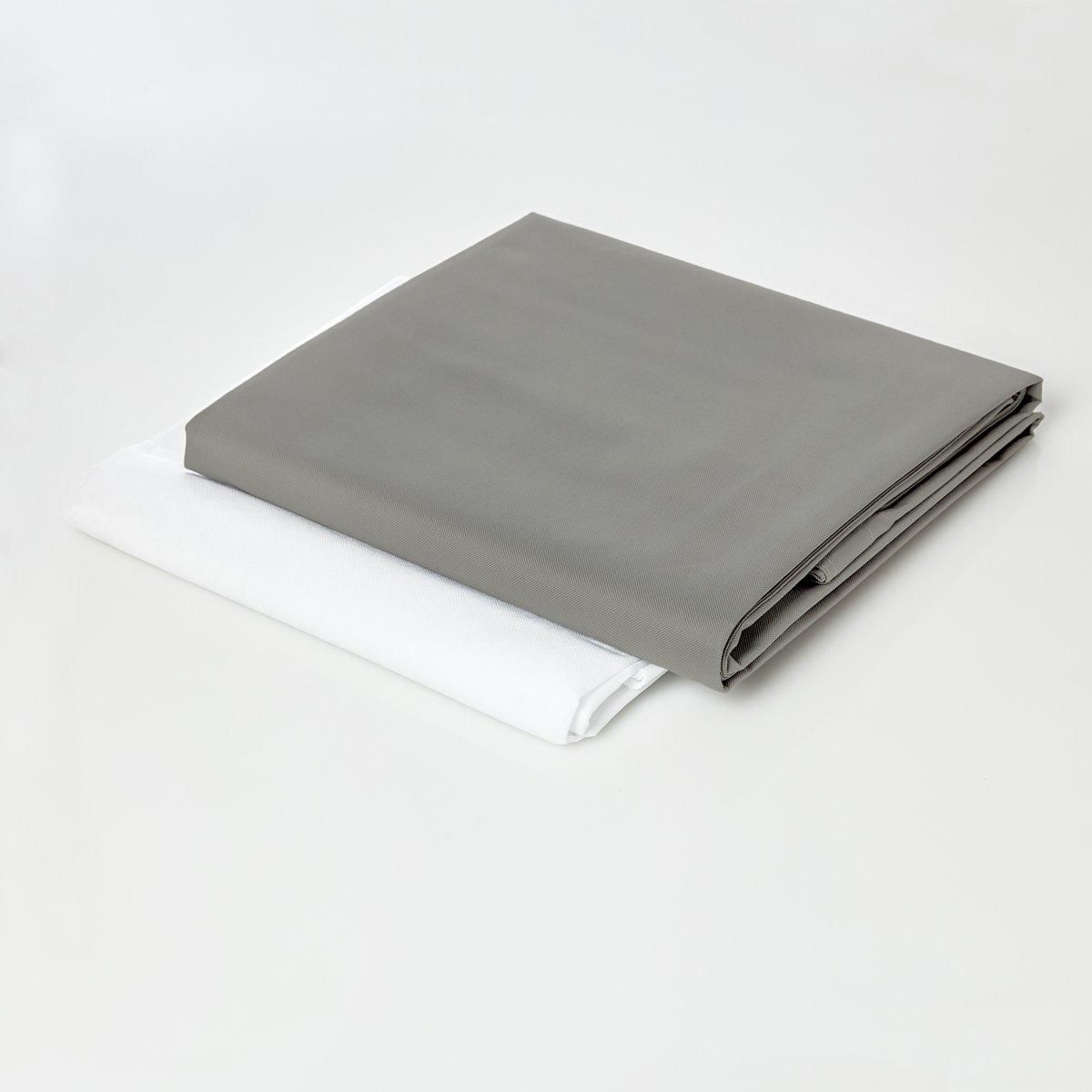 Lumaland - Hoes van luxe XXL zitzak - enkel de hoes zonder vulling - Volume 380 liter - 140 x 180 cm - gemaakt van PVC / Polyester - Zilvergrijs kopen